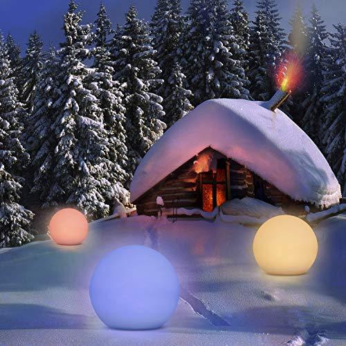 Lampada Solare da Esterno Homever Lampada Solare da Luce datmosfera a 9 Colori Regolabile Lunga Durata 8 ore IP67 Impermeabile Solare per Giardino Stagno Patio