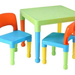 Liberty House Toys  tavolo da gioco per bambini con 2 sedie in plastica multicolore