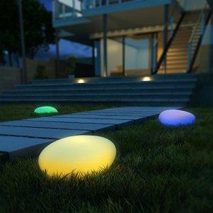 Luci Solari da Esterno Luci Solari da Giardino 40 cm Diametro 9 Modalit intelligenti da Scegliere Luce Solare Esterno IP67 Impermeabile