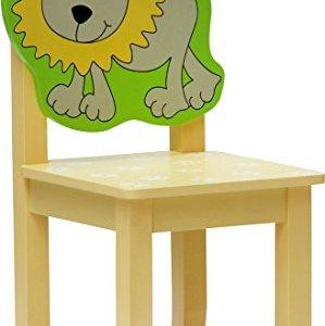 Set di mobili per bambini SAFARI   4 pezzi Set composto da tavolo per bambini 2 sedie e cassapanca  Set di mobili per bambini con cassapanca