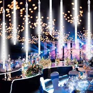 Stringa Luci led Catena Luminosa led USB con 8 Tubi Luminosi di 30cm 240 leds 32m LunghezzaIP65 ImpermeabileLuci Natale Pioggia di Meteoriti per Albero di Natale Giardino Interno Esterno