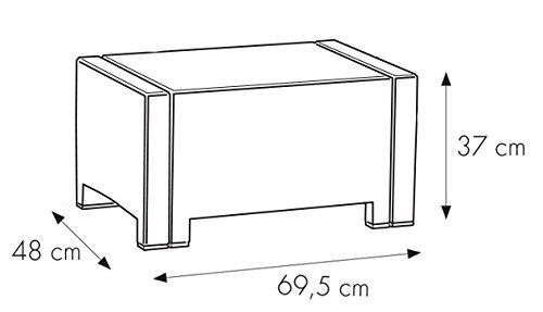 Set Nebraska Salottino 4 Posti, Antracite, 281 x 155 x 79 cm