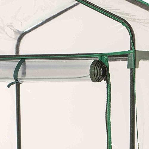 Siena Garden 569128 Serra Mobile da Giardino a 3 Ripiani 129x69x49 cm