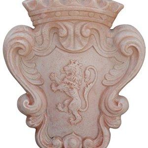 Stemma araldico invecchiato, in terracotta toscana L56xPR11xH64 cm