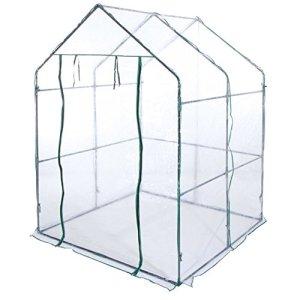VERDELOOK Serra a casetta Senza Ripiani con Telo in PVC Trasparente di Dimensioni 140x140x197 cm