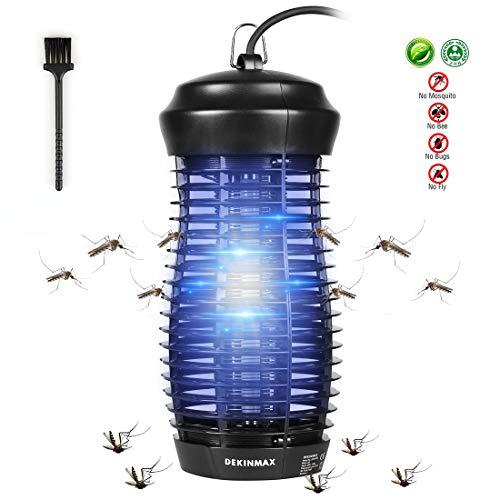 DEKINMAX Lampada Anti Zanzara UV Zanzariera Elettrica Lampada Anti zanzare Lampada Insetticida per Interno ed Esterno Giardino Campeggio (6WB)