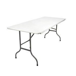MaxxGarden  Tavolo da giardino in plastica pieghevole 180 x 75 x 74 cm colore bianco