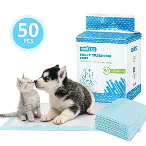 Nobleza  50 pz Tappetini igienici per Cani Misure 40  60cm Tappetini assorbenti per Animali Domestici