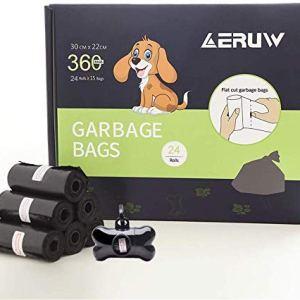 Sacchetti per Cani Dog Poop Sacchetti biodegradabili Dog Sacchetti di rifiuti con Dispensers Extra Spesso a Prova di perdite Dog Poo Bags 24 Rotoli 360 Pezzi