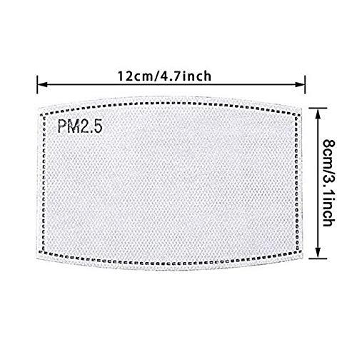 20 filtri a 5 strati PM25 a carbone attivo sostituibili filtro di ricambio per adulti protezione universale in tessuto non tessuto per la respirazione filtro protettivo per donne e uomini