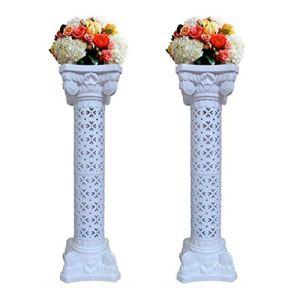 2 Pezzi Pilastro Fiori Decorativo Colonne di Fiori Romano Supporto Ortensia in Plastica Altezza di 102 cm Decorazione di Nozze Cerimonie Anniversari Celebrazioni Festa Eventi Indoor e Outdoor