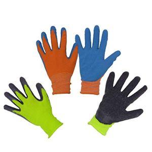 2 x Paia di guanti da giardino per bambini da 2 a 13 anni guanti da giardinaggio e da lavoro rivestiti in gommapiuma per ragazze e ragazzi