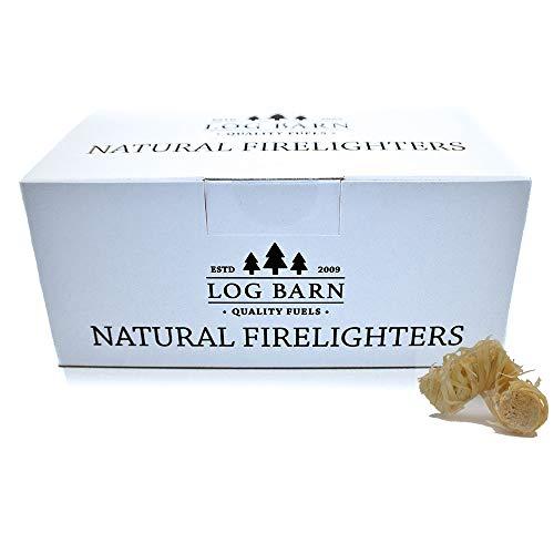 Accendifuoco in lana di legno naturale ecologico 40 pezzi per scatola Ideale per accendere il fuoco in stufe barbecue forni per pizza e affumicatori