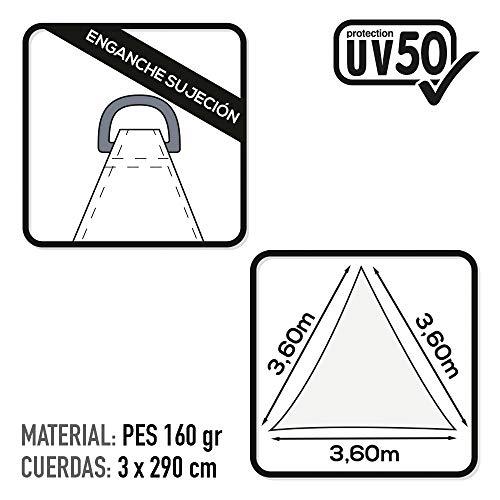 Aktive 61016  Gazebo a Vela Triangolare 360x360x360 cm