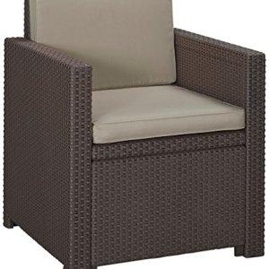 Allibert Poltrona Lounge Victoria MarroneTaupe 65x 63x 77cm 233819