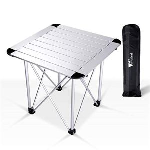 Amzdeal tavolo da campeggio pieghevole in alluminio per caff balcone ultra leggero con borsa per campeggio picnic cucina giardino escursionismo viaggi fino a 50 kg