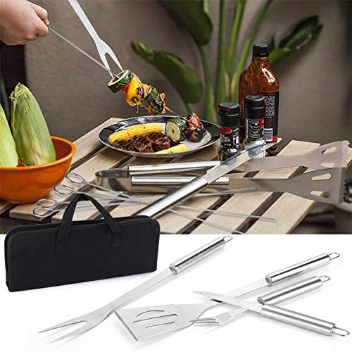 Attrezzi per BarbecueGifort 24pcs Barbecue Accessori in Acciaio Inox Completo Ensemble Barbecue Utensili allaperto kit BBQ Set