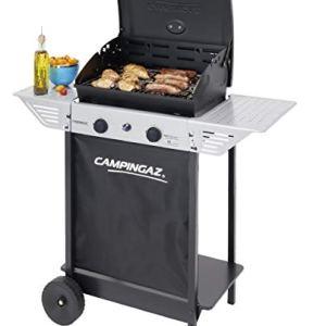 Campingaz BBQ a Roccia Lavica Xpert 100 L Plus Rocky Barbecue Grill Compatto a 2 Bruciatori 71kW di Potenza 2 Griglie Cromate 2 Ripiani Laterali e un Carrello con Ruote