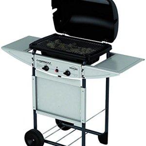 Campingaz Expert Plus Barbecue Gas con Pietre Laviche Grill Barbecue Compatto a Gas con 2 bruciatoreiatore Potenza 7 kW Cavo in Acciaio Cromato 2 Ripiani Laterali