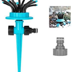 Eletorot Lawn Sprinkler irrigatore Giardino con 12 Ugelli a Spruzzo Regolabili per Giardino Prato Irrigazione Sistema di Irrigazione