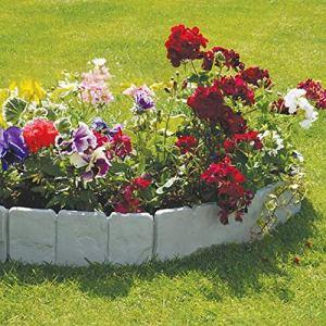 Futaikang Bordo in Plastica Flessibile per Giardino 10 Pezzi Grigio 2x250x23 cm5 Metri Decorazione da GiardinoBordi Aiuole PlasticaFai da Te