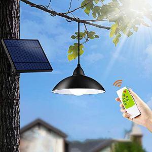 Konesky Luce Solare Sospesa Illuminazione 12 LED Lampadario Telecomando Lampada a Sospensione Retro Paralume 3M Cord 3 Modalit di Illuminazione