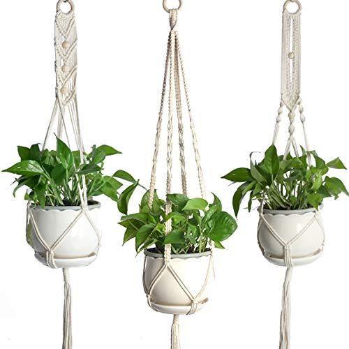 Soonhua vaso per piante in macram da appendere per interni per casa giardino ufficio confezione da 3