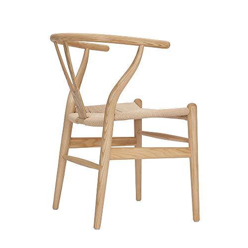 colore legno naturale Tomile Wishbone Chair Y sedia in legno massello sedie da pranzo poltrona rattan naturale