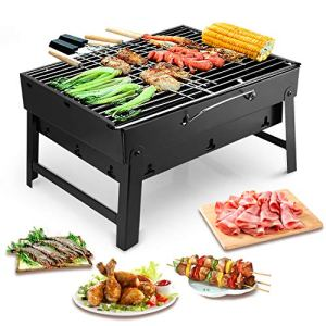 Uten Barbecue Carbone Portatile Grill Barbecue Carbone Griglia Barbecue per 35 Persone Cottura alla Brace Ottima Griglia Trasportabile Giardino Terrazza Campeggio Picnic