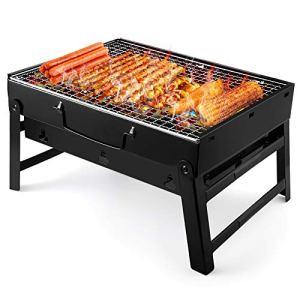 UTTORA Barbecue Portatile in Carbonio BBQ con Gambe pelabili Barbecue in Acciaio Inox per Barbecue Fes