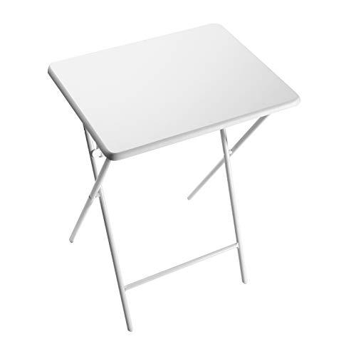 Tavolo Pieghevole In Plastica.Versa 19840100 Tavolo Pieghevole In Metallo E Plastica Lyon White 66 X 38 X 48 Cm Arredamenti Per Il Giardino