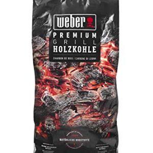 Weber Premium Holzkohle 5 kg carbonella Nero