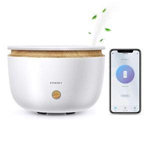 Alexa Diffusore di Aromi Etersky Diffusore di Olio Essenziali Compatibile con Alexa e Google Home APP Controllo WiFi Profumatore 500ML con Funzione Timer 2 Modalit di Nebbia per Camera da letto