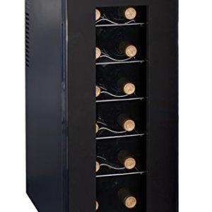 Ardes 5I12V AR5I12V Cantinetta Termoelettrica da 12 Bottiglie con Luce Interna Display Digitale Controllo Touch e Scaffali a Rastrelliera Estraibili Acrilico