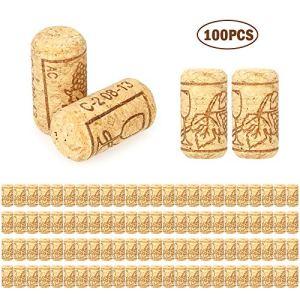 Decdeal 100pcsset Tappo di Bottiglia di VinoTappo di Sughero40x21mm Bottiglia di Vino Rosso Rovere Tappi di Bottiglia di Vino Rossoper SalvaDecorazioneDIY