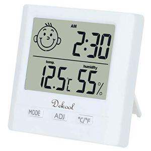 Dekool Igrometro Termometro Digitale Monitor Umidit da Interno Temperatura Digitale Stazione Meteo con Espressione Facciale per Stanza da Bambino Camera da Letto Bagno Soggiorno Magazzino etc