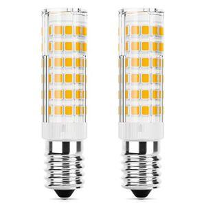 DiCUNO E14 LED Lampadina 5W equivalente alogeno 50W 550LM Bianco caldo 3000K base in ceramica E14 piccola vite non dimmerabile per cappa da cucina confezione da 2