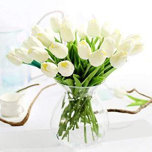 Justoyou tulipani artificiali in lattice a effetto realistico per bouquet da sposa matrimonio casa giardino decorazione Beige10