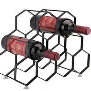 Kitchenista Portabottiglie da Vino da 9 Bottiglie Stand  Portabottiglie in Piedi  Design Unico Contemporaneo Non  richiesto alcun Montaggio