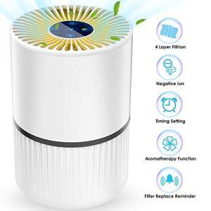 Laluztop Purificatore dAria 4in1 Purifiers Vero HEPA Filtri di Carbonio Attivi3 velocit 3 Temporizzazione Smart Filter Change Promemoria per Le allergie Fumatore Cattura Fumo Polvere Polline