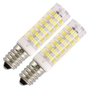 Lampadine per cappa cucina ZSZT LED E14 7W Equivalenti a 50W Bianco Freddo 6000K AC220240V Piccola vite di Edison Pacco da 2