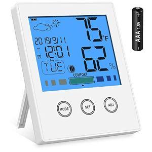 Newdora Misuratore Digitale di umidit e di Temperatura Igrometro e Termometro da Interno per Casa Ufficio Stanza dellAsilo Nido