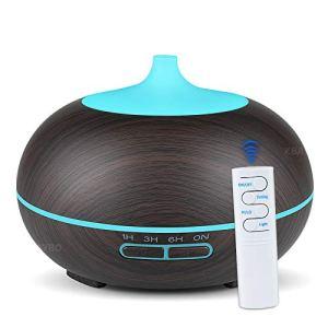 NEWKBO 550ml USB Diffusore Atomizzatore di Essenze e Aromi SD UltrasuoniUmidificatore con 7 Colori LED SelezionabiliPurificatore Aria per YogaCamera da LettoSoggiornoSale ConferenzaProfondo