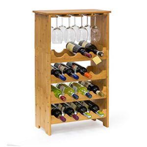 Relaxdays 10013871 Cantinetta per Vino Metallo Marrone 24x50x84 cm