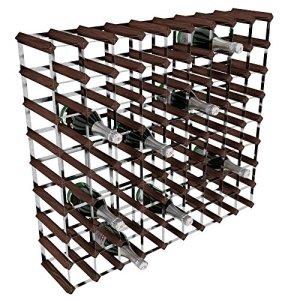 RTA  Portabottiglie di vino 80 posizioni in acciaio galvanizzatomogano marrone legnopietra