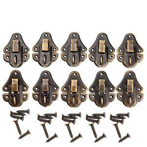 Serrature a chiavistello in stile vintage cerniere chiudibili a chiave decorative per vetrinetta cofanetto in legno per gioielleria cassetta scatola 48 x 35 mm confezione da 10 pezzi