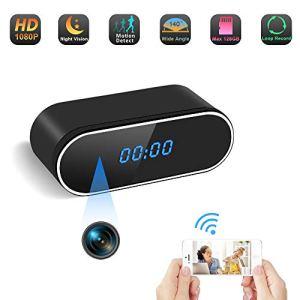 Telecamera Nascosta Spia WiFi Spy Cam Orologio TANGMI 1080P HD Microcamere Spia Senza fili Videoregistratore Rilevamento del Movimento Visione Notturna 140Angolo