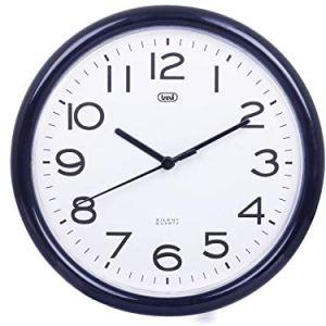 Trevi OM 3301 Orologio da Muro al Quarzo con Movimento Silenzioso Sweep Diametro 24 cm Nero plastica rotonda