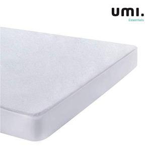 UMI Essentials Coprimaterasso in Spugna di Cotone Impermeabile e Traspirante160 x 190200 cm
