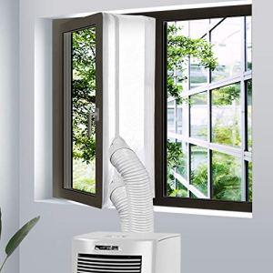Veperain Guarnizione Universale per Finestre per Condizionatore Portatile e Asciugatrice per Tutti Climatizzatori Mobili con Zip Chiusura a Strappocon Lunghezza Massima di 400CM